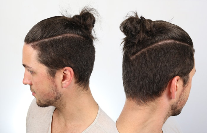 Man Bun Style #3 - The Man Braid