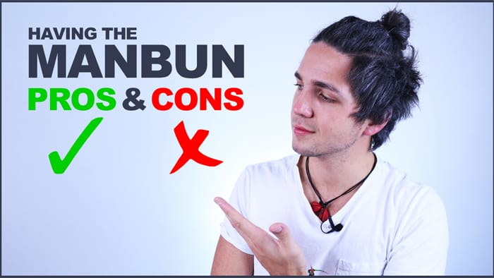 pros and cons of having a man bun or topknot - men's hair