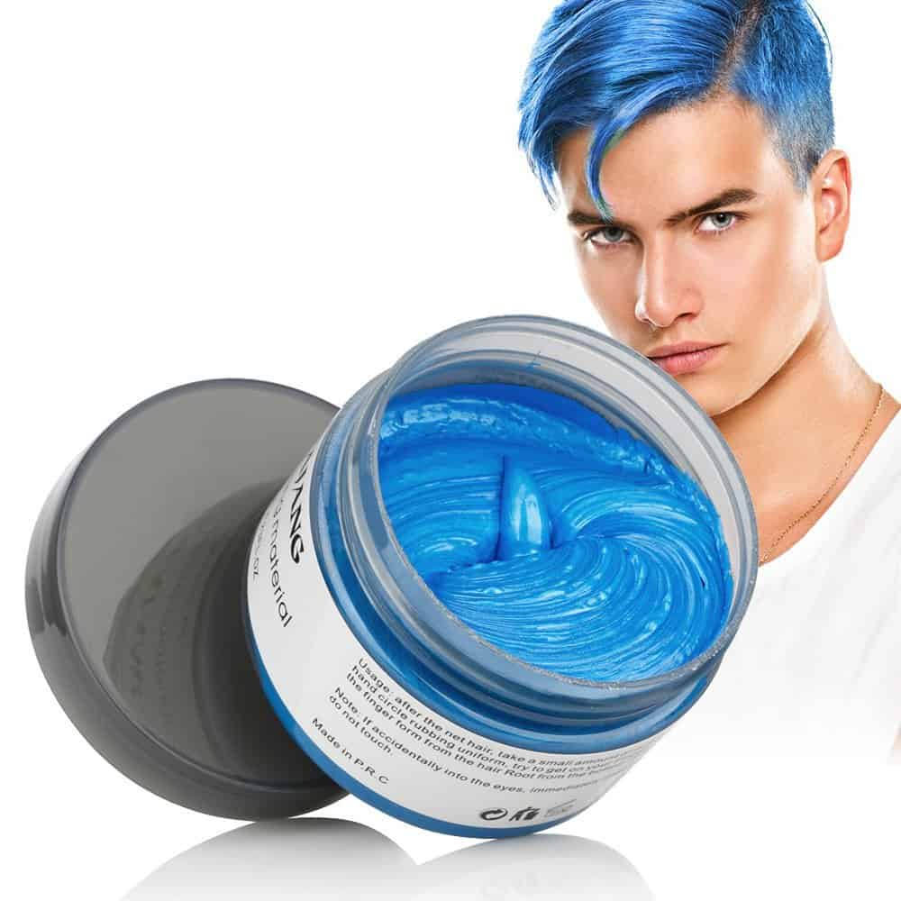 Blue Color Hair Wax